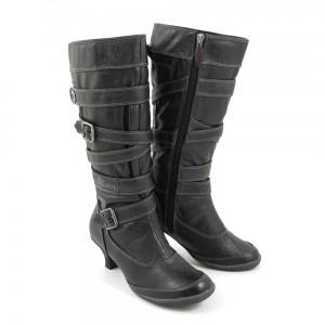 riemen-stiefel in schwarz von s.oliver