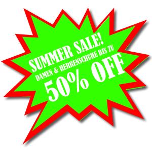 Summer Sale! Damenschuhe und Herrenschuhe reduziert