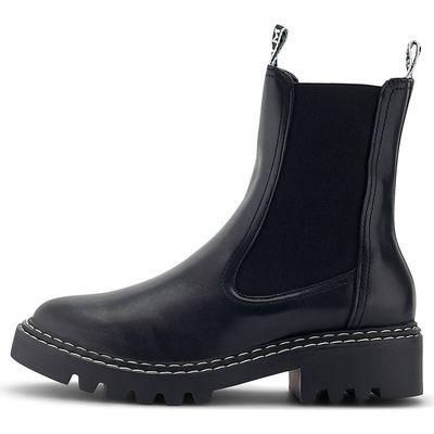 Schwarze Chelsea Boots mit grobe dicke Sohle