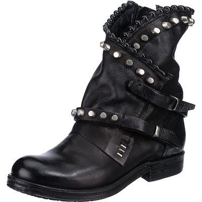 Biker Boots Schwarz mit Nieten, Westernstiefeletten Black