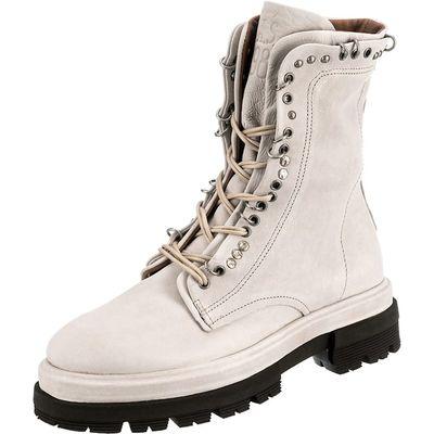 Boots mit groben Profilsohle in Off-White